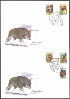 Mammals, set of 2 FDCs, 2008