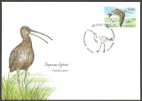 Bird of the Year. Curlew (Numenius arquata), FDC, 2011