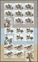 Horse riding, set of 3 souvenir sheets, MINT, 2011