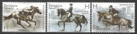 Horse riding, set of 3 stamps, MINT, 2011