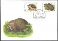 Hedgehog. Belarus-Kazakhstan, FDC, 2012