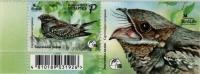 European nightjar, stamp with label, MNH, 2021