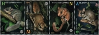 Rodents, set of 4 stamps, MNH, 2021