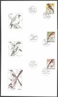 Birds, set of 3 FDCs, 1994