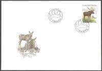 Moose (Alces alces), FDC,1998