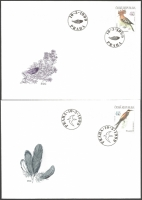 Nature Conservation: Protected birds, set of 2 FDCs, 1999