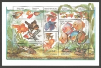Animal Breeding: Aquarium Fish, souvenir sheet, MINT, 2003