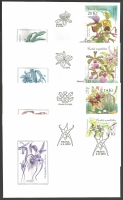 Flower Growing - Beauty of Orchids, set of 4 FDCs, 2012