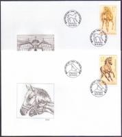 Horses, set of 2 FDCs, 2013