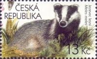 Badger - Beskid Mountains, stamp, MINT, 2014
