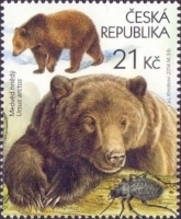 Bears and Beetle - Beskid Mountains, stamp, MINT, 2014