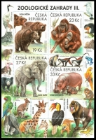 Nature Protection: Zoological Gardens (3rd Part), souvenir sheet, MINT, 2018