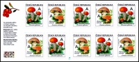 Edible mushrooms, booklet of 10 self-adhesive stamps, MNH, 2018