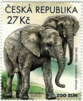 African Elephants stamp, MINT, 2018