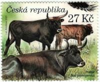 Aurochs (Bos primigenius), stamp, MNH, 2021