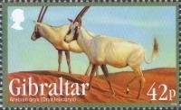 Arab Oryx (Oryx leucoryx), stamp, MINT, 2012