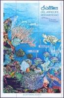 Mesoamerican's Coral Reef, souvenir sheet, MNH, 2015