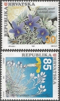 Croatian Flora - Flowers, set of 2 stamps, MINT, 1992