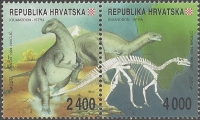Dinosaurs from Western Istria, set of 2 stamps, MINT, 1994