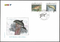 Loggerhead Turtle (Caretta caretta) and Bottlenose Dolphin (Tursiops truncatus), FDC, 1995