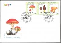 Croatian Flora - Indigenous Edible Mushrooms, FDC, 1998