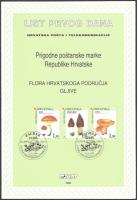 Croatian Flora - Indigenous Edible Mushrooms, Souvenir Card, 1998