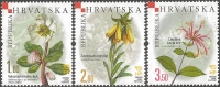 Croatian Flora - Endemic Plants, set of 3 stamps, MINT, 2008