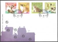 Pets - Cats, FDC, 2012