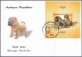 Dogs, FDC with souvenir sheet - 1 stamp, 2011