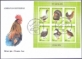 Poultry, FDC with souvenir sheet - 6 stamps, 2012