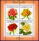 Roses, souvenir sheet - 4 stamps, MINT, 2014