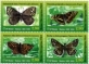Butterflies, set of 4 stamps, MNH, 2020