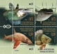 Fishes, set of 4 stamps, MNH, 2019