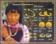 Ornaments of Bhutan, souvenir sheet with 6 stamps, MINT, 2014