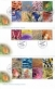 Cocos (Keeling) Islands Colours, set of 3 FDC, 2011