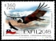 Andean Condor (Vultur gryphus), stamp, MNH, 2018