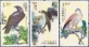 Birds of Prey, set of 3 from 4 stamps, MINT, 2014