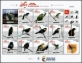 Birds of Colombia, souvenir sheet of 12 stamps, MNH, 2018