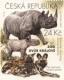 Black Rhinoceros and Hyena Dogs, stamp, MINT, 2016