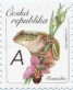 Tree frogs (Hyla arborea) and Orchid, stamp, MINT, 2016
