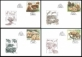 Nature Protection: Zoological Gardens (2nd Part), set of 4 FDCs, 2017