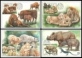 Nature Protection: Zoological Gardens (2nd Part), set of 4 maximum cards, 2017