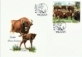 European Bisons (Bison bonasus), FDC, 2021