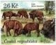 European Bisons (Bison bonasus), stamp, MNH, 2021