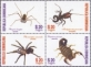 Insects: Spiders and Scorpions, set of 4 stamps, MNH, 2013