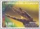 Smooth-fronted Caiman (Paleosuchus trigonatus), stamp, MNH, 2015