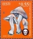 Estonian Mushrooms. The Deadly Fibrecap, stamp, MINT, 2014