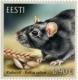 Estonian Fauna – The Black Rat, stamp, MNH, 2020
