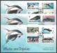 Whales & Dolphins, set of 3 FDCs, 2012