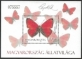 Fauna of Hungary: Moths and butterflies, souvenir sheet, MINT, 2011